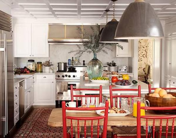 In this kitchen, designer Peter Durham using an antique Malayer