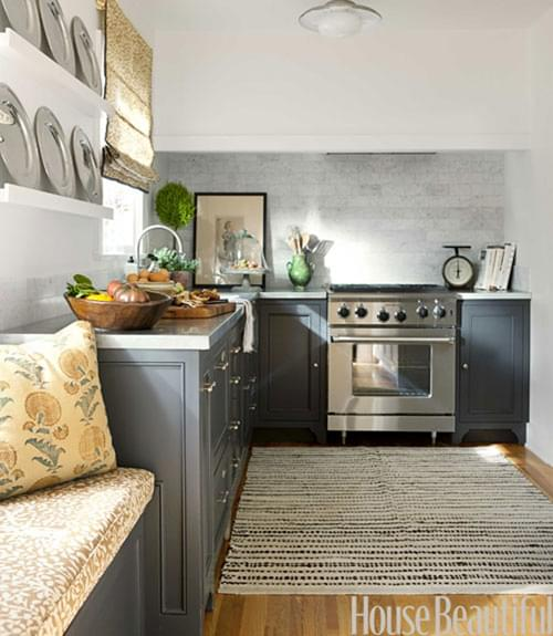 Lovely The Rug And The Window Seat Make This Cottage Kitchen Very Cozy! Since  There Is