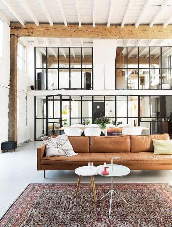 Industrial Space with a warm rug