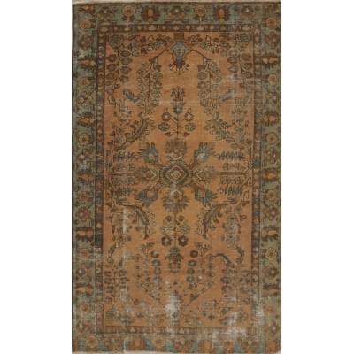 Antique  Worn Hamedan Rug