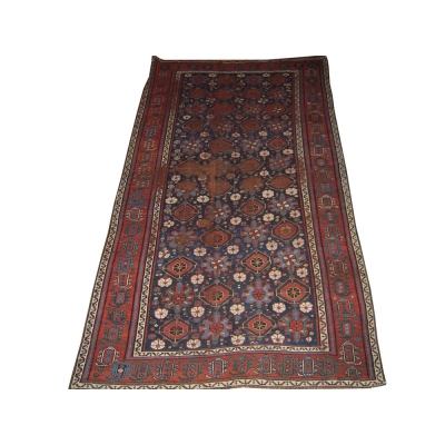 Antique  Worn Varamin Rug