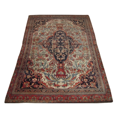 Antique Persian Farahan Sarouk Rug
