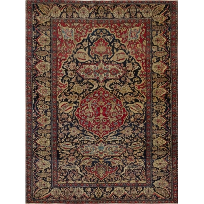 Antique Persian Kerman Lavar - Esfahan Rug