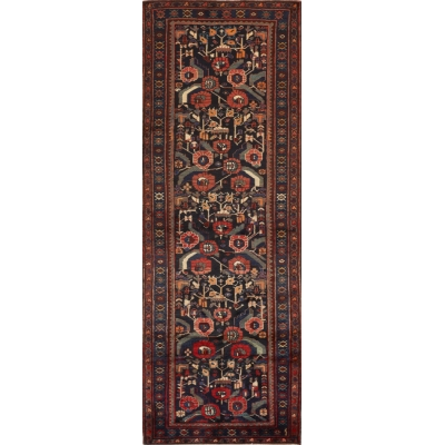 Semi-Antique Persian Hamedan Rug