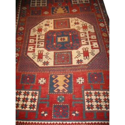 Antique Oriental Kazak Rug