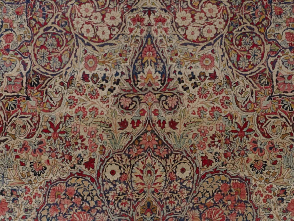 Antique Persian Kerman Lavar Rug View Fullscreen