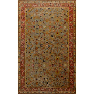 Antique Oriental Agra Rug