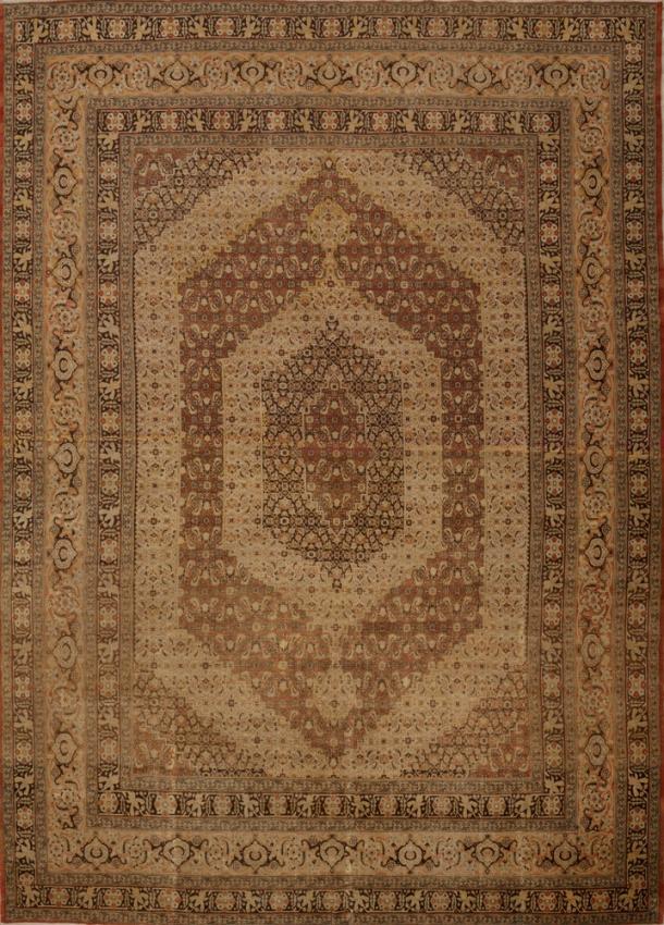 Antique Persian Tabriz Hajalil Rug