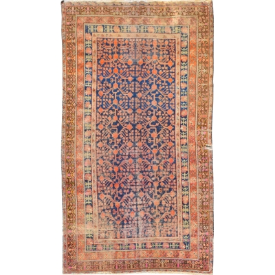 Antique Oriental Worn Khotan Rug