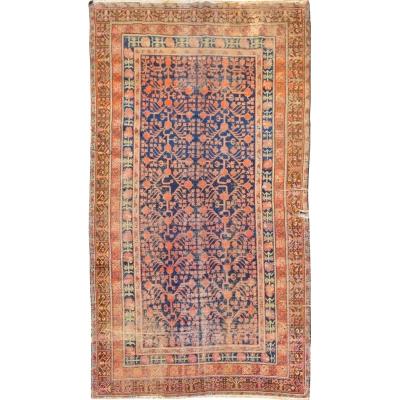 Antique Oriental Worn Khotan Rug