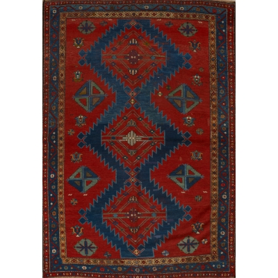 Antique Oriental Caucasion Rug