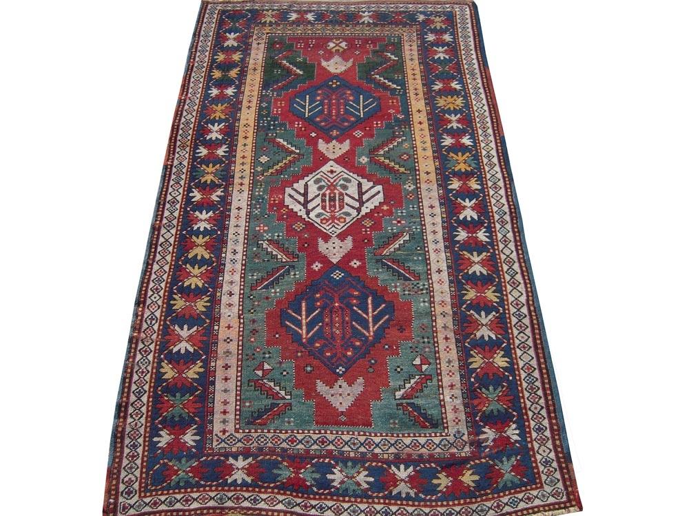 Antique Oriental Caucasion Rug