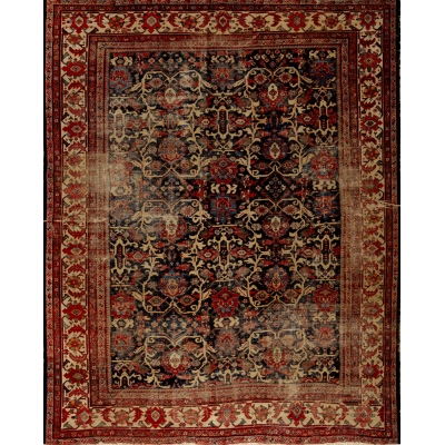 Antique Persian Worn Sultanabad Rug
