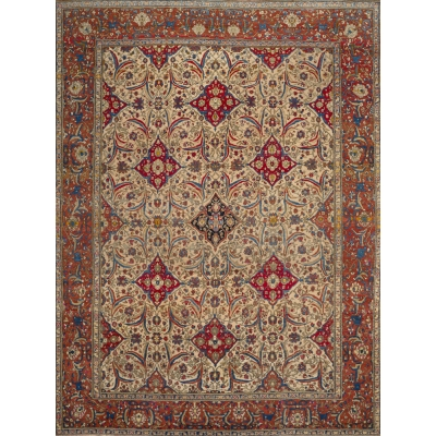 Antique Persian Esfahan Rug