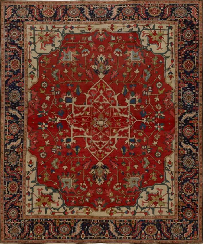 Antique Persian Serapi Rug