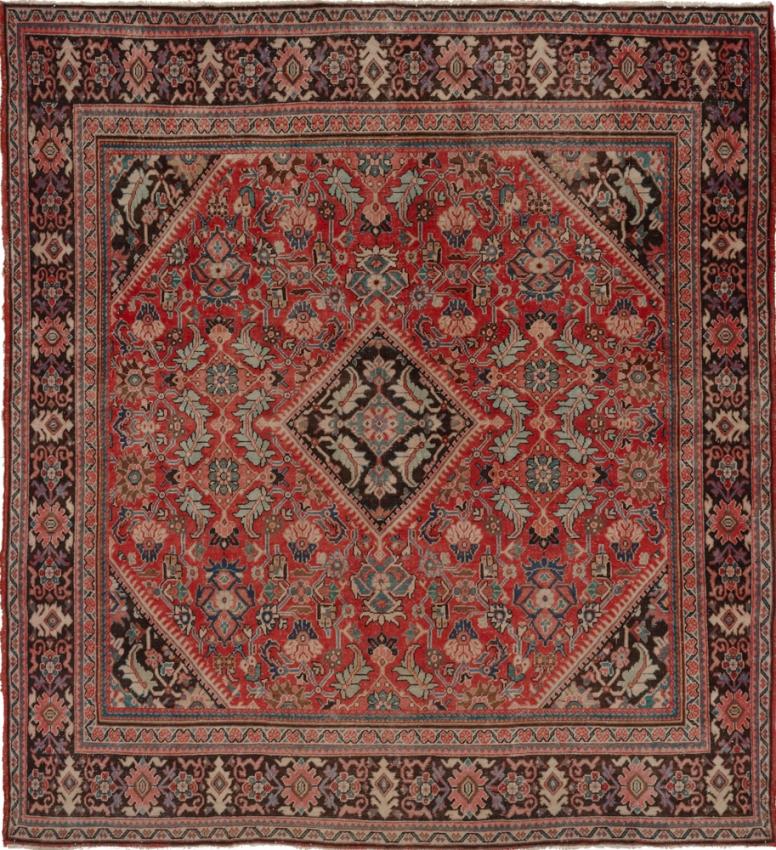 Semi-Antique Persian Mahal Rug