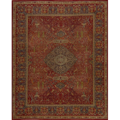 Antique Persian Tabriz Rug