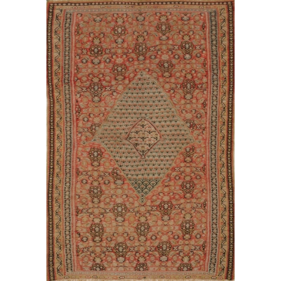 Antique Persian Kilim Senneh Rug