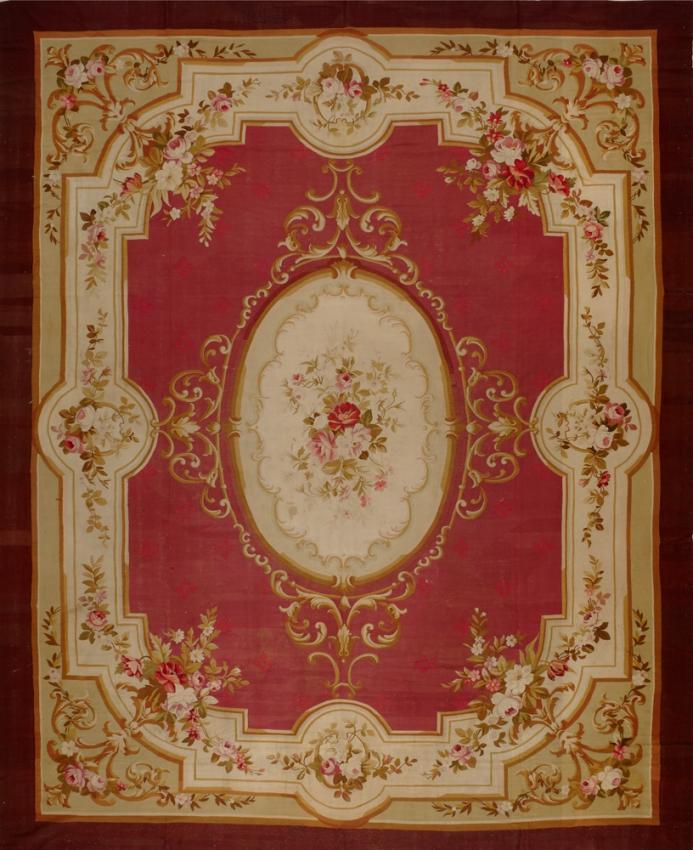 Antique European Aubusson Rug