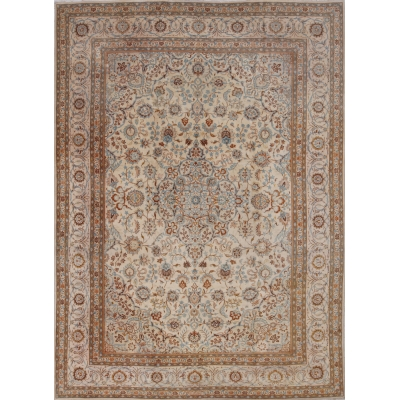 Semi-Antique Persian Kashan Rug