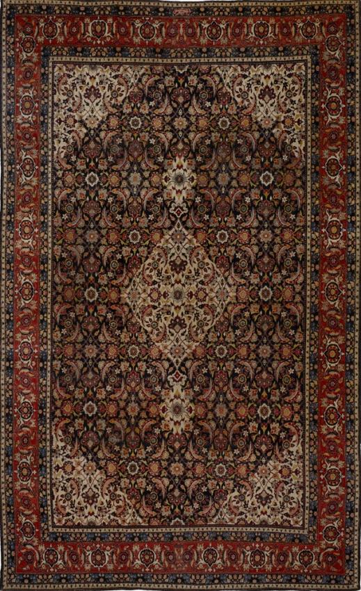Antique  Yazd Rug
