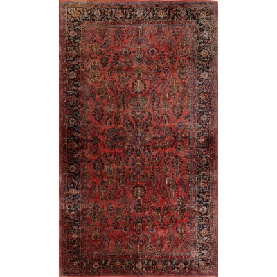 Antique Oriental Sarouk Rug