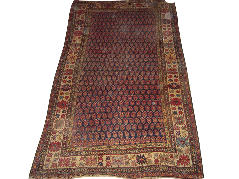 Antique Oriental Worn Caucasion Rug