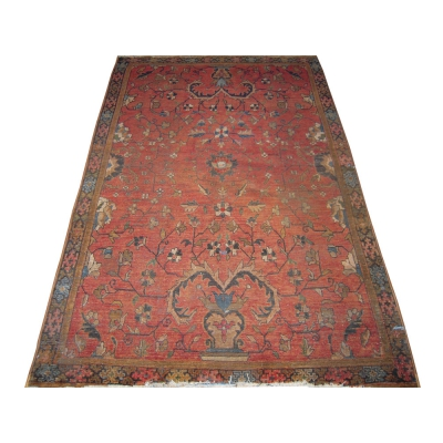 Antique Oriental Worn Sarouk Rug