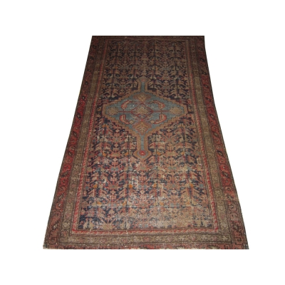 Antique Persian Worn Malayer Rug
