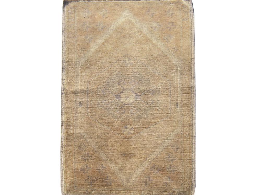 Antique Turkish Vintage Oushak Rug