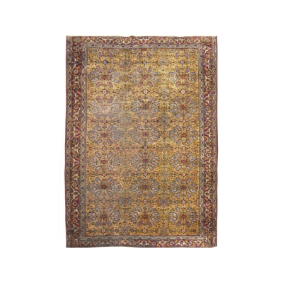 Antique Persian Kashan Silk Rug