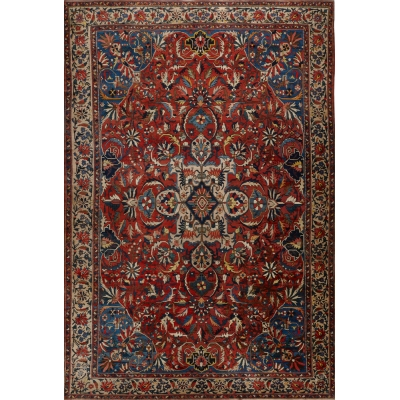 Antique Oriental Bakthiari Rug