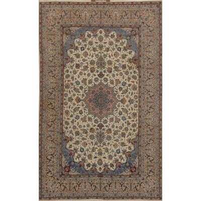 Semi-Antique Persian Esfahan Rug