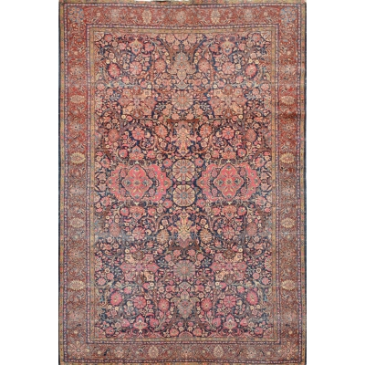Antique Persian Kashan Rug