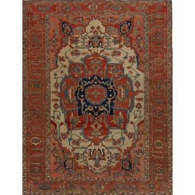 Antique Persian Persian Serapi Rug