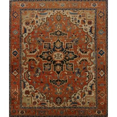 Antique Persian Persian Serapi Rug