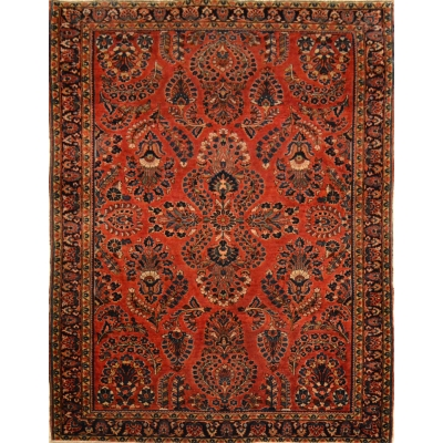 Semi-Antique Oriental Sarouk Rug