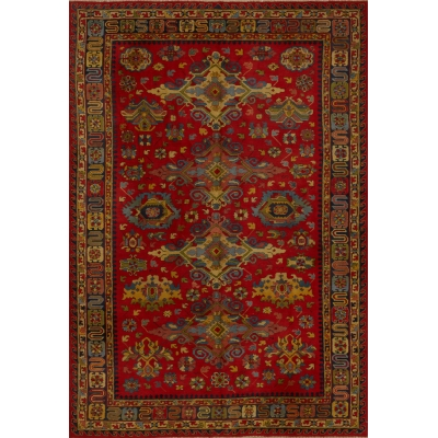 Semi-Antique European Kazak Rug