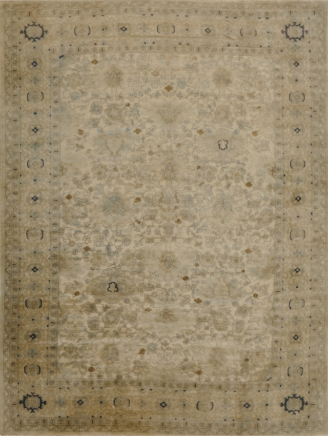 Semi-Antique European Oushak Rug