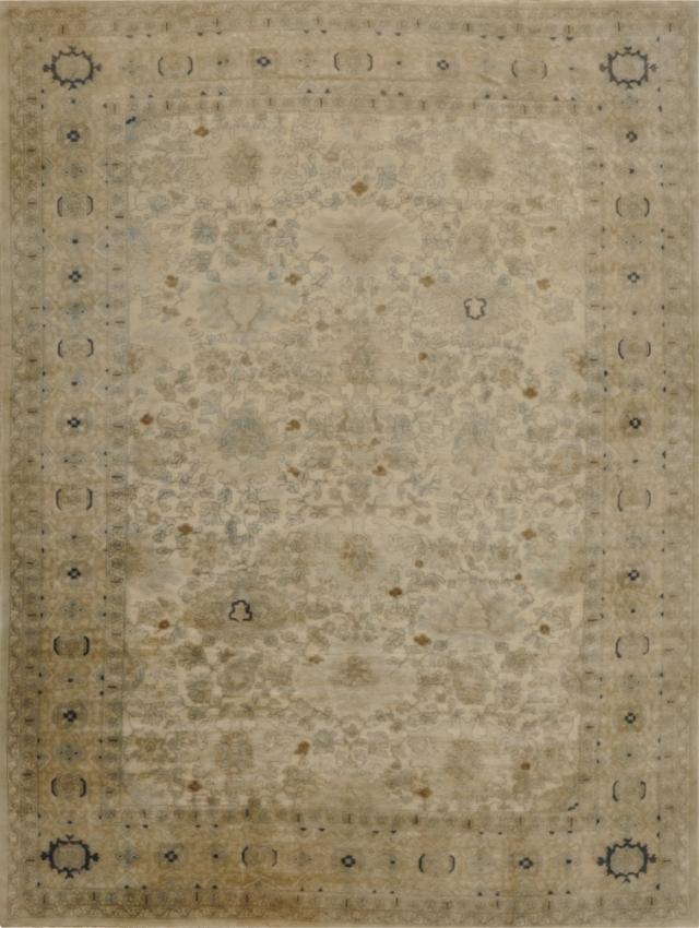 Semi-Antique European Oushak Rug