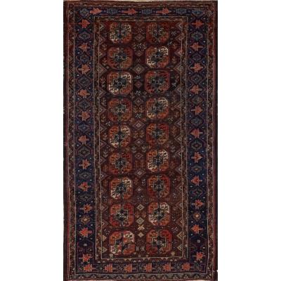 Antique  Antique Turkaman Rug