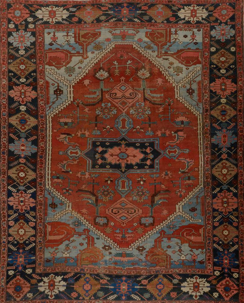 Antique Persian Serapi Rug Antiques 18210hc Matt