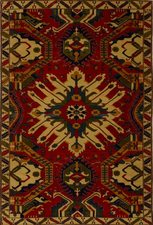 Semi-Antique Oriental Kazak Rug
