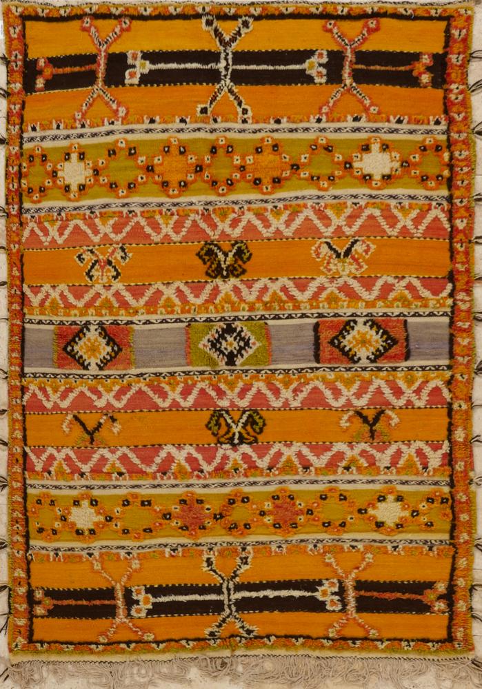 Charming Vintage Moroccan Rug. View Fullscreen