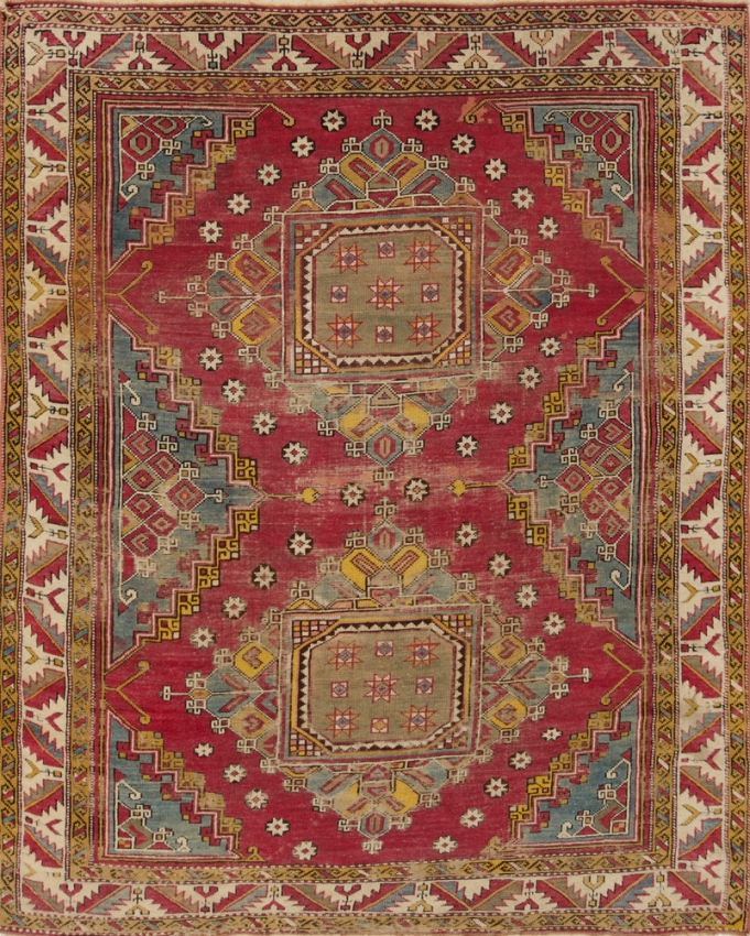 Antique  Worn Turkish Rug
