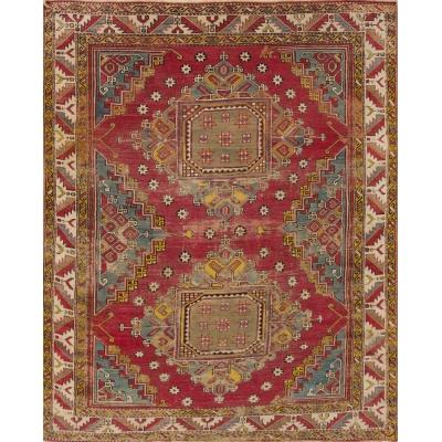 Antique  Worn Turkish Rug
