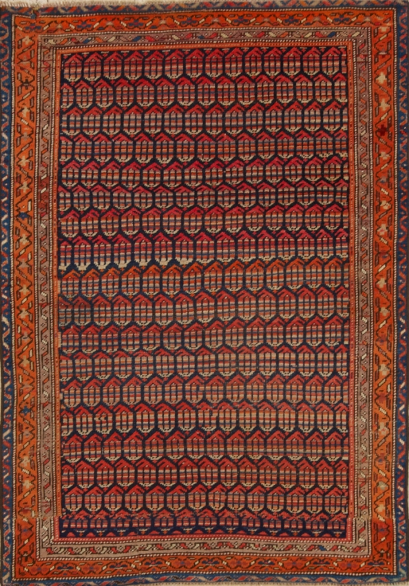 Antique  Worn Saraband Rug