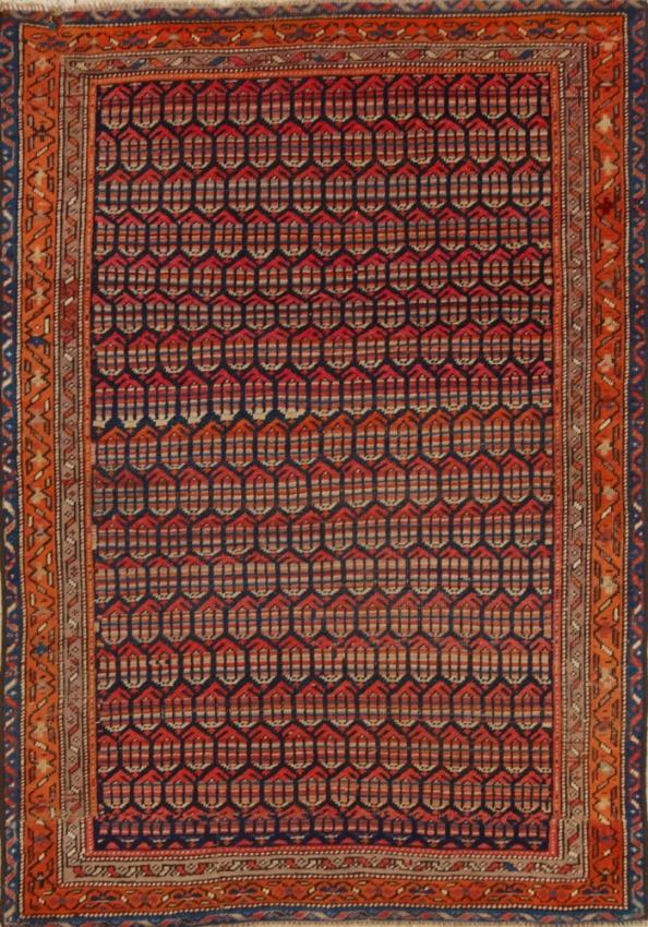 Antique  Worn Saraband Rug