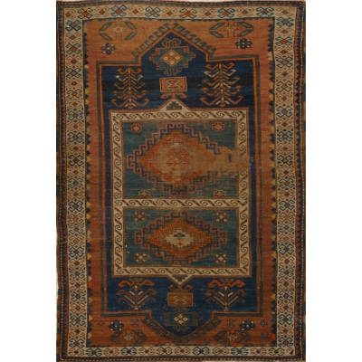 Antique  Worn Kazak Rug