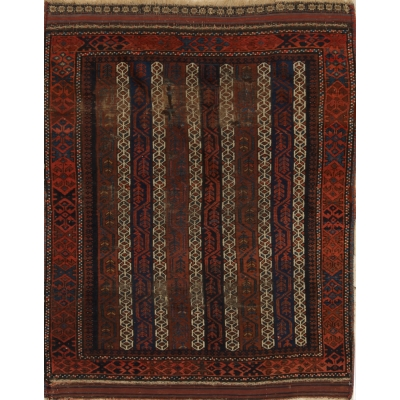 Antique  Worn Baluchi Rug